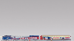 Official New York Giants NFL Football Express Electric Train Set Collection! Exclusive Giants Gift!