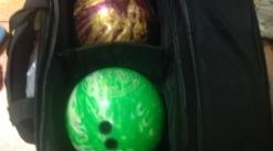 Bowling balls, Shoes and bag