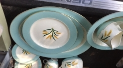 Mid century dishes. Set of 12 with players, bowls, etc