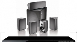 PIONEER HOME THEATRE RECEIVER WITH 5 SPEAKERS!