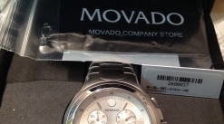 Movado New in Box men's. Stainless Silver.