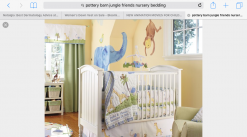 Pottery Barn Jungle Friends Nursery set Rug and crib bedding accessories