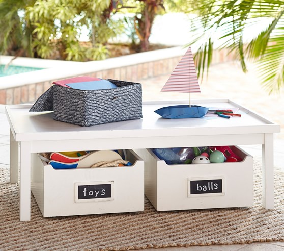 Kids Activity Table Amp Drawers Pottery Barn Retail 379