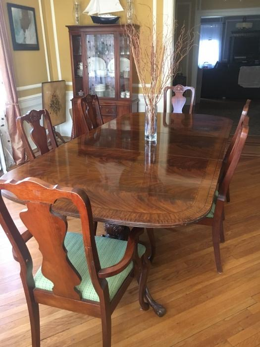 Dining room table and 6 chairs but can seat many more for 6 seater dining room table and chairs