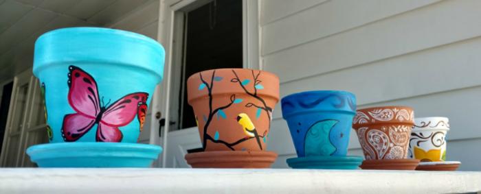 Adult Drop In Craft Paint A Flower Pot